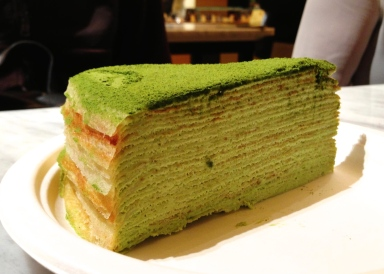 Green tea mille crêpe – Lady M Confections, NYC