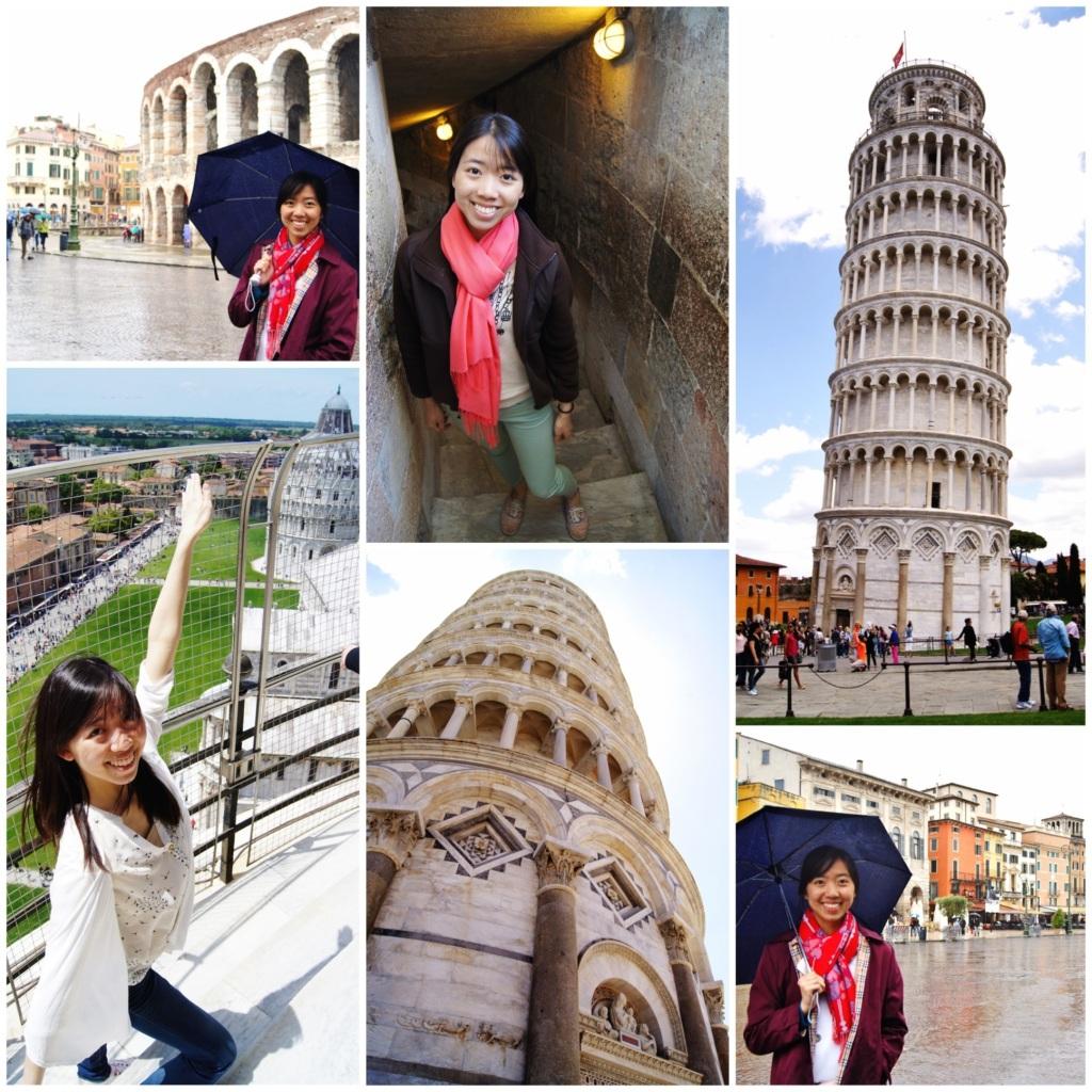 Verona, Italy and Pisa, Italy